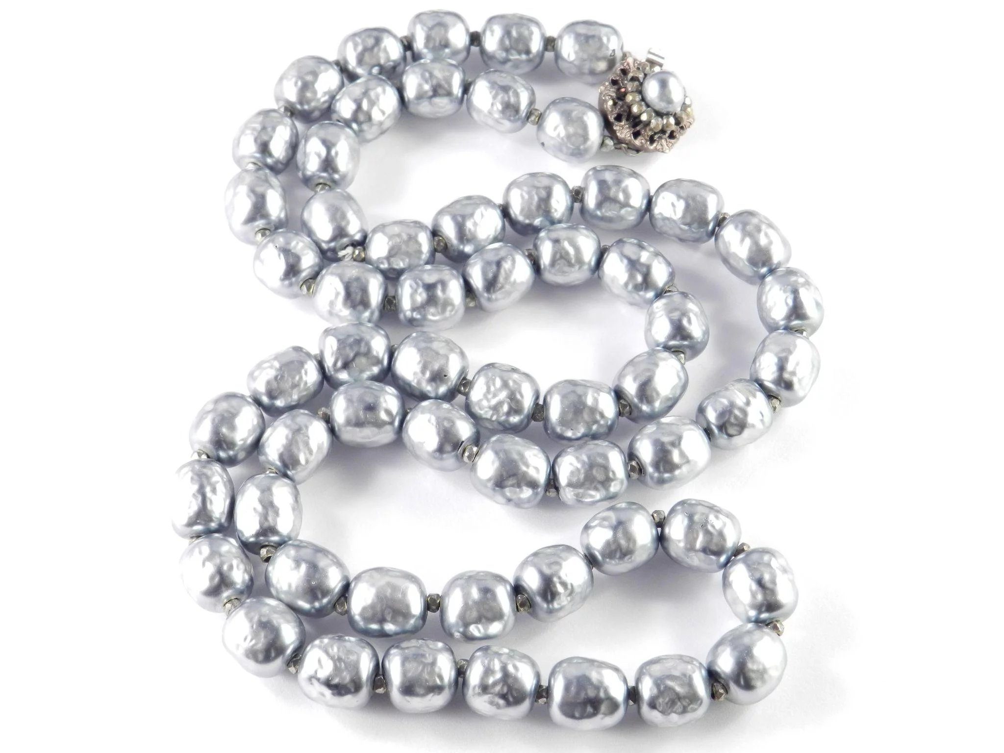 Miriam Haskell Glass Baroque Faux Pearl Necklace Cody S