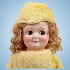Demalcol Googly with Original Yellow Plush Coat and Hat - 9 Inches