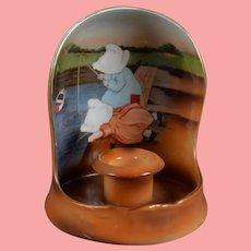 Royal Bayreuth Sunbonnet Babies Candle Holder