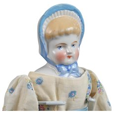 China Bonnet Doll with Blonde Hair - 12.5 Inch