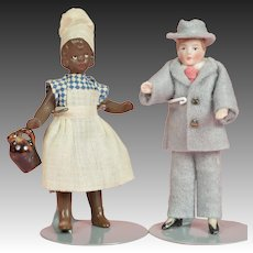 Two Dollhouse Dolls