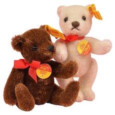 "Cute Pair of 5"" Steiff Bears"