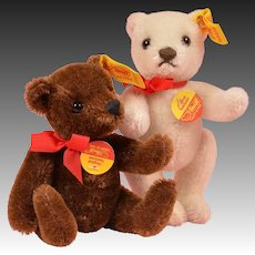 "Cute Pair of 5"" Steiff Bears"