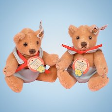 "Cute Pair of 5"" Steiff Goldilocks Bears"