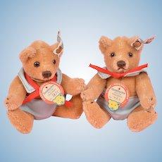 """Cute Pair of 5"""" Steiff Goldilocks Bears"""