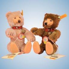 "Cute Pair of 6"" Steiff Teddy Babies"