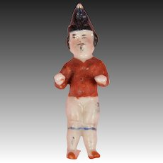 Tiny German Frozen Charlie with Molded Hat & Mustache - 2 Inches