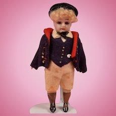 German All Bisque Boy - 3.75 Inches