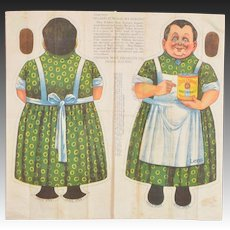 "Blue Ribbon Malt Extract ""Lena"" Uncut Cloth Doll"
