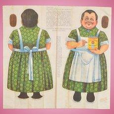 """Blue Ribbon Malt Extract """"Lena"""" Uncut Cloth Doll"""