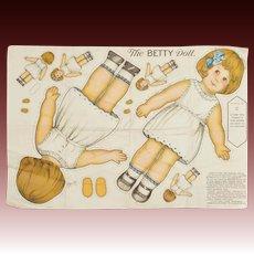 """The Betty Doll"" Uncut Cloth Doll"