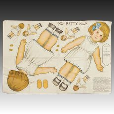 """The Betty Doll"" Uncut Cloth Doll"