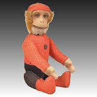 Schuco Yes/No Bellhop Monkey - 8.25 Inches