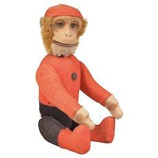 Schuco Yes/No Bellhop Monkey - 8.25 Inches