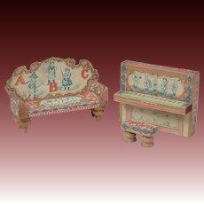 Bliss Dollhouse ABC Piano & Sofa
