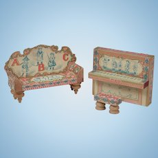 Bliss Dollhouse ABC Piano & Sofa