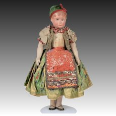 """Wonderful Early Bing Cloth Doll """"Kathe Kruse"""" Style - 12.5 Inches"""