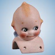 Adorable Kewpie Shoulder Head - 2.25 Inches