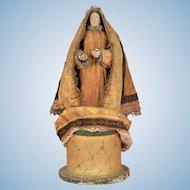 All Original Mid-19th Century Continental Religious Figure