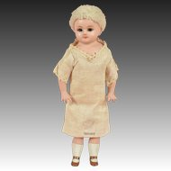 "Cuno & Otto Dressel ""Holz Masse"" Papier Mache Child - 8.75 Inches"