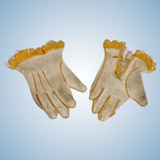 Lovely Leather Gloves for Bebe, circa 1885