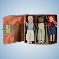 """Charming Boxed """"Little Red Riding Hood"""" Set by Freundlich"""
