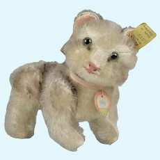 """Stieff Jointed Mohair Cat """" Kitty """" - 5.5 Inches Long"""