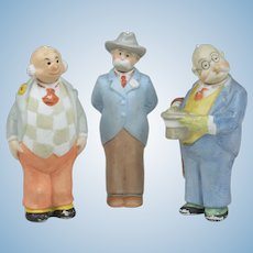 Three German Bisque Comic Nodders