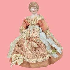 All Original German Dollhouse Lady  - 4.75 inches tall