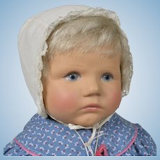 Adorable Kathe Kruse Stoffpuppe Baby - 20 Inches Tall