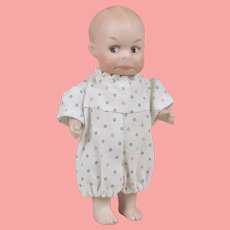 Hold for K Adorable All Bisque Pouty Heubach Googly - 4.5 Inches