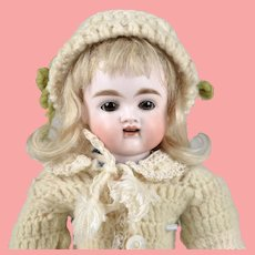 Wonderful Early Kestner Child with Open Mouth and Square Cut Teeth - 10 Inches Tall