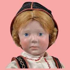 HOLD for C Rare Marion Kaulitz Munich Art Child Doll - 18 Inches Tall