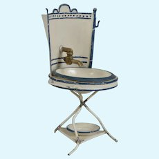 German Tin Miniature Washstand