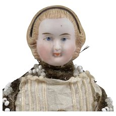 All Original Small Alice Untinted-Bisque Doll