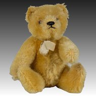 Early Golden Mohair Small Steiff Teddy Bear - 6 inches tall