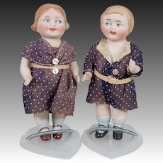 Adorable All Bisque Googly Pair - 5 Inch