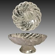 Hand-Carved and Hand-Polished Rock Crystal Compote Bowl