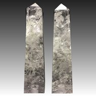 Pair of Hand-Carved and Hand-Polished Rock Crystal Points