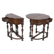 Pair of English William and Mary Style Side Tables