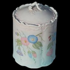 Vintage Morning Glory Painted Vanity Canister - Red Tag Sale Item
