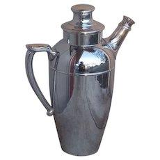 Chromium Flat Bottomed Cocktail Shaker Vintage