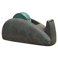 Heavy Cast Iron Art Deco Industrial Tape Dispenser