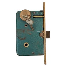 Reserved for purchase by Slay    Corbin Entry Door Cast Iron Mortise Lock with Sargent Brass Key Cylinder and 2 Keys