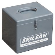 Vintage Skill Saw Metal Storage Box