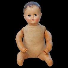 """R&B Arranbee Blue Grey Sleepy Eyed Molded Hair 17"""" Boy Doll"""