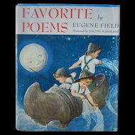 1940 Favorite Poems by Eugene Field Illustrated by Malthe Hasselriss Hardcover with Dust Cover