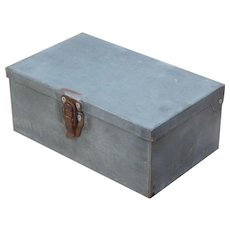 Vintage Cork Lined Metal Box