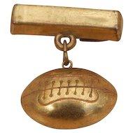 c1940 Vintage Gold Plated Football Bar Pin