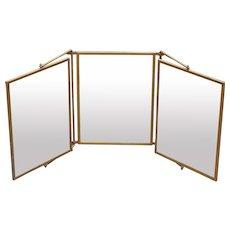 Independent Side Mirror Pivot Triptych Vintage Wall Mirror